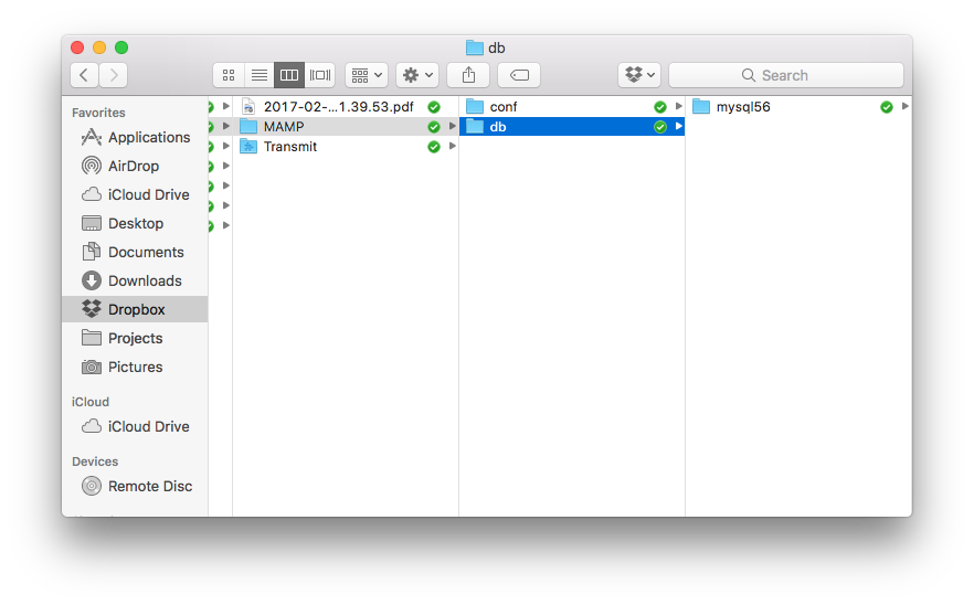 Sharing Databases in Dropbox (For MAMP Pro)