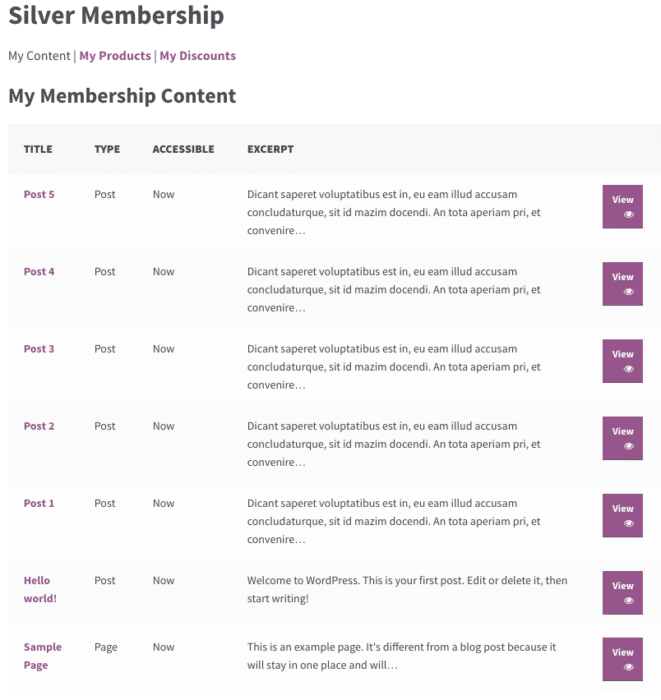 "Sorting ""My Content"" in the WooCommerce Memberships Members Area"